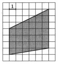 Найдите площадь трапеции, изображённой на клетчатой бумаге с размером клетки 1 см х 1 см (см. рис.). Ответ дайте в квадратных сантиметрах.
