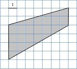 Найдите площадь трапеции, изображённой на клетчатой бумаге с размером клетки 1 см × 1 см. Ответ дайте в квадратных сантиметрах.