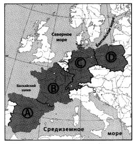 Какой буквой на карте Европы обозначена Польша?