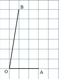 Найдите тангенс угла AOB, изображённого на клетчатой бумаге.