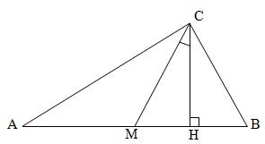 В прямоугольном треугольнике угол между высотой и медианой, проведёнными из вершины прямого угла, равен 28º. Найдите больший из острых углов этого треугольника. Ответ дайте в градусах.