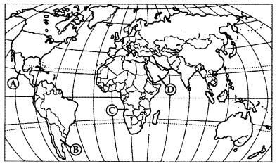 Какой буквой на карте мира обозначено государство Мексика?