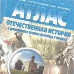Атлас отечественная история