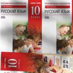 Русский язык 10 класс Базовый уровень Пахнова