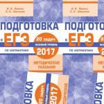 Подготовка к ЕГЭ 2017 Математика Методические указания 20 задач Ященко