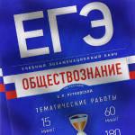 ЕГЭ Обществознание тематические работы Рутковская 2017